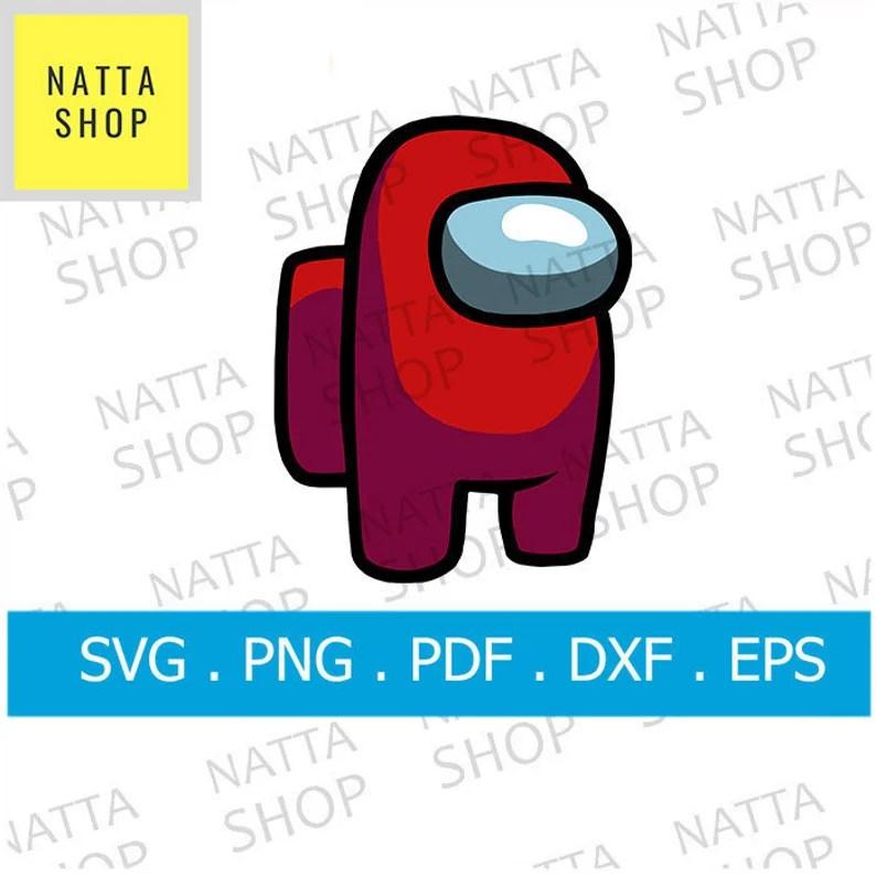 Download Among Us SVG File Red among us svg png svg pdf eps dxf   Etsy