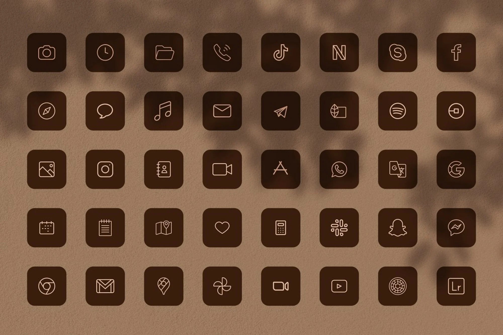 ===== list of app icons in this pack the 300 high … Neutral Aesthetic IOS14 App Icons Light Dark Theme App   Etsy