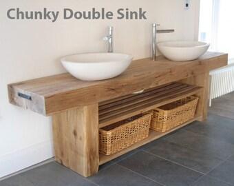 double sink vanity etsy