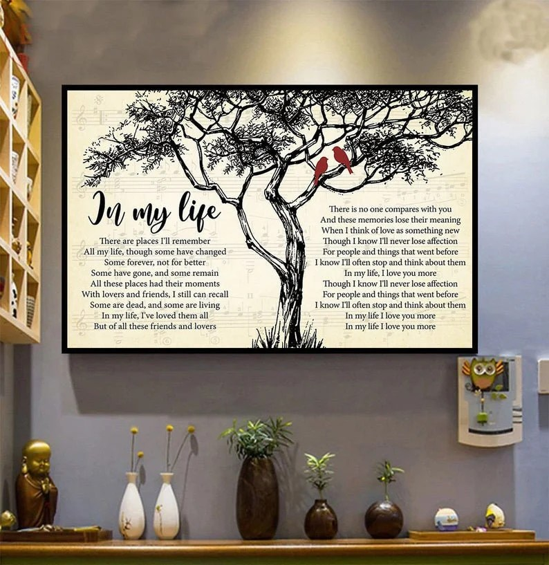 beatles song poster etsy