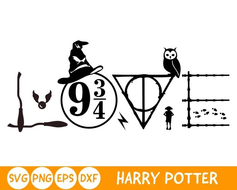 Download Harry Potter inpired Love SVG Harry Potter SVG File for | Etsy