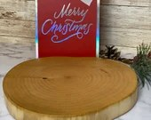 Live Edge Hand Crafted Charcuterie Board Maple Round Heart