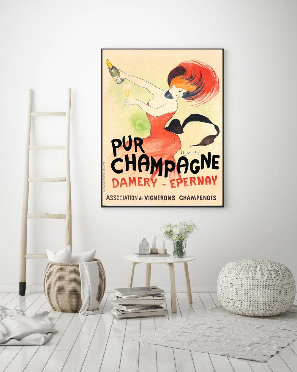 champagne poster etsy
