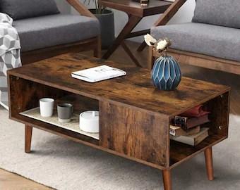 retro coffee table etsy