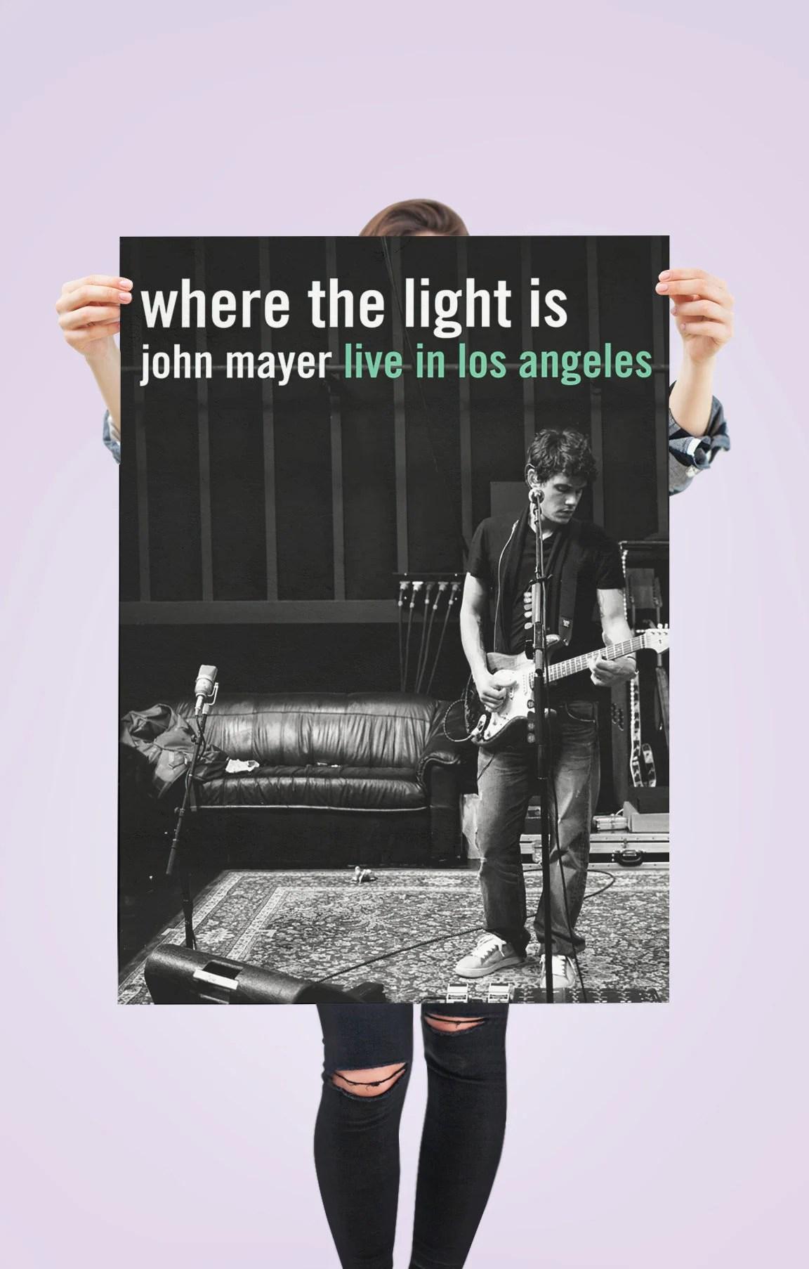 john mayer poster etsy
