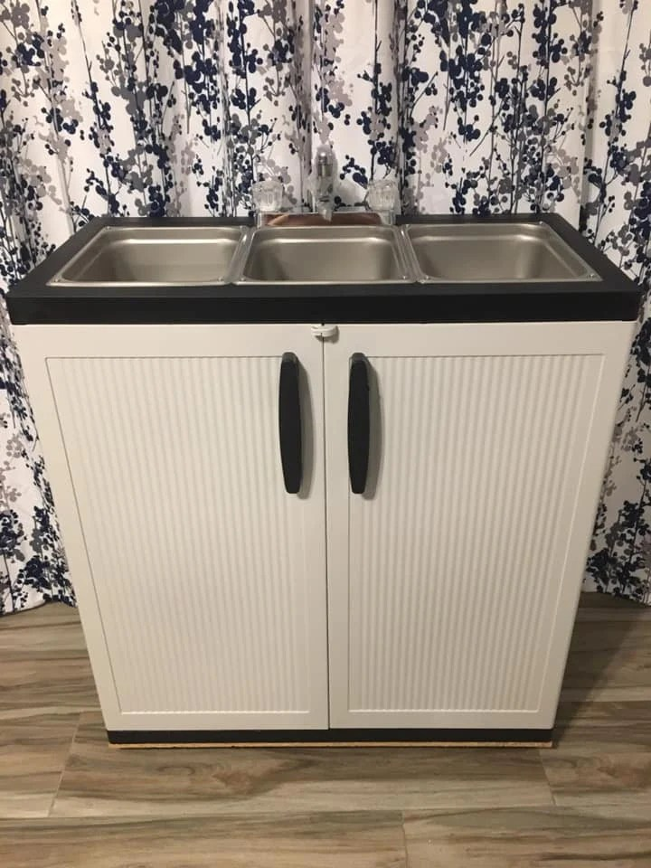 3 compartment sink etsy