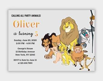 lion king invites etsy