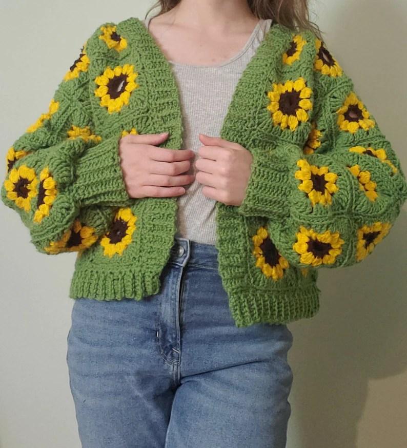 The Sunflower Cardigan Crochet Pattern image 0