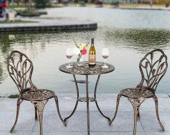 wrought iron patio furniture etsy