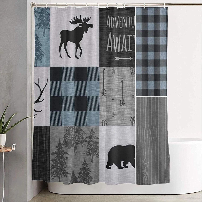 cabin shower curtain etsy