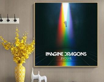 imagine dragons poster etsy