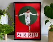 Dominik Szoboszlai - RB Leipzig and Hungary, Football Print, Football Poster