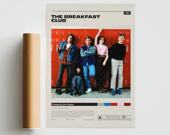 the breakfast club poster etsy