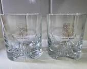 CHIVAS REGAL GLASSES Set of 2 France Barware Scotch Cocktails