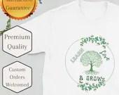 Teacher Shirt Learn love Grow Short-Sleeve Unisex Teacher T-Shirt - Great for back to school