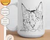 Cat Sketch Mug - Cat Lover Mug - Cat Lover Gift - Cat Owner Mug