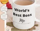 World's Best Boss... Me, (Gotta love being self-employed) Mug - Lady Boss or Buisness Owner Gift perfect Entrepreneur Gift