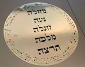 Reflecting Courage - Jewish Feminist Hebrew Kohenet- Mirror Sticker - Waterproof
