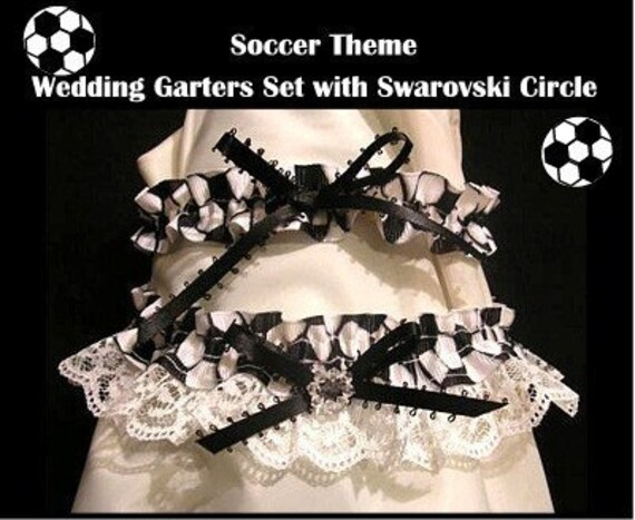 Items Similar To SPORT SOCCER Wedding GARTER 2PC GARTERS