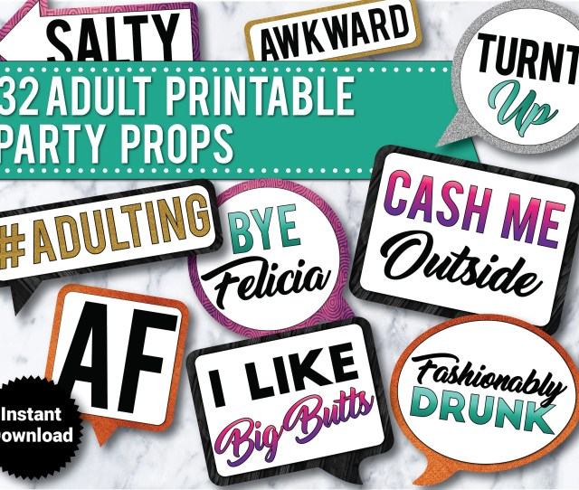 Funny Adult Photo Booth Propsinstant Download Cash Me Outside Wedding St Birthday Drinking Props Th Birthday Bachelorette