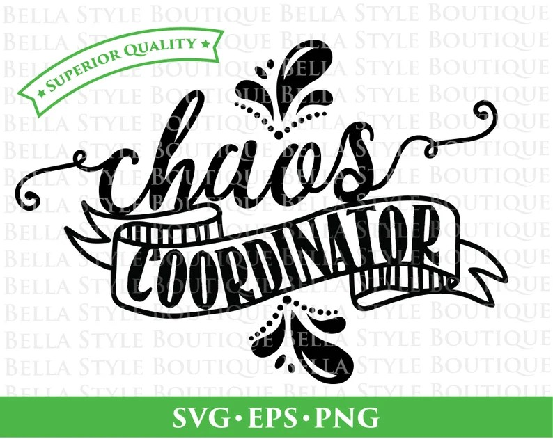 Download Chaos Coordinator svg png eps cut file   Etsy