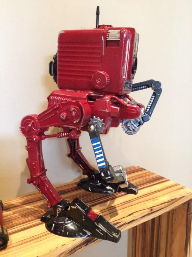 Walker scavenger droid Camera robot.