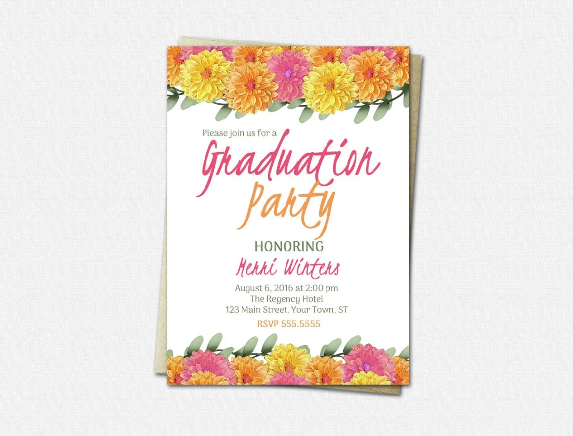 Dahlia Graduation Invitat...