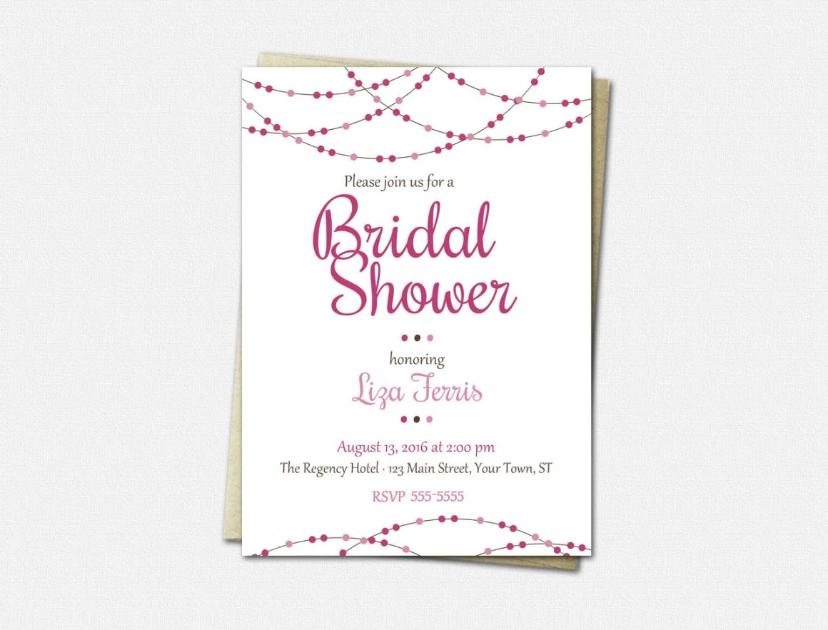 Garland Bridal Shower Inv...