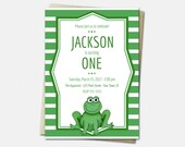 Frog Invitations - Birthd...