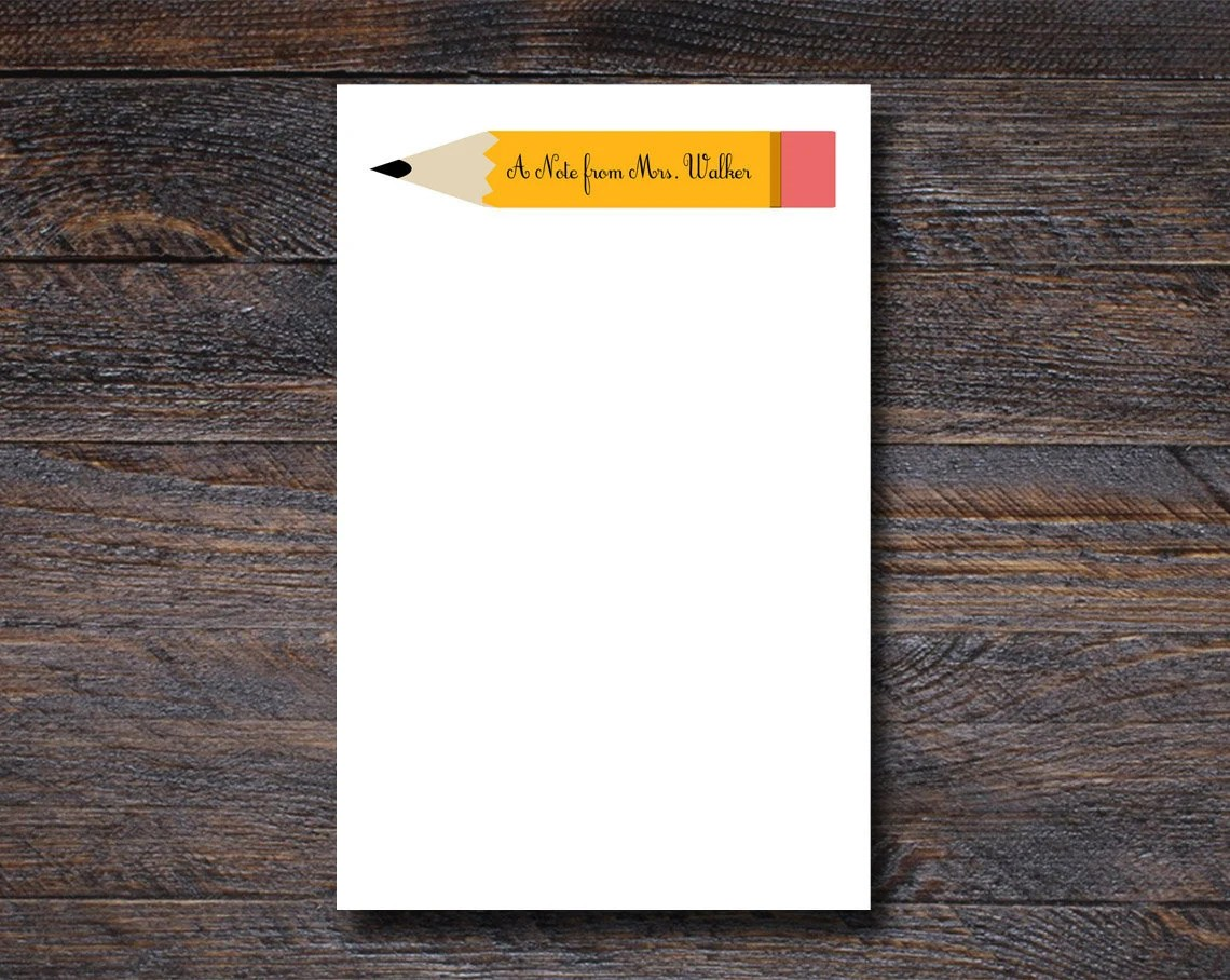 Personalized Pencil Notep...