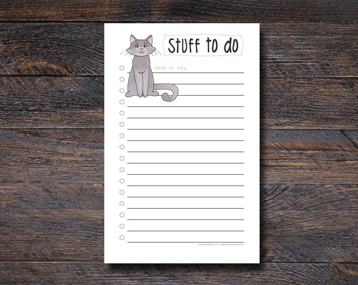 Cat To Do List - Cat Gift...