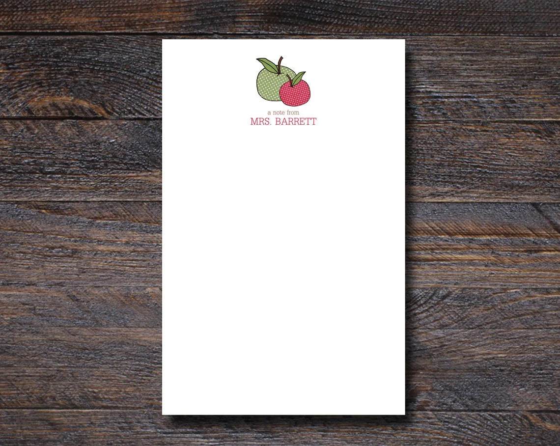 Personalized Apple Notepa...