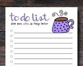 Coffee To Do List Pad - F...