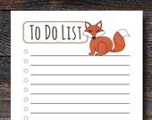 Fox To Do List - Cute Ani...