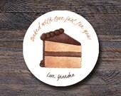 Chocolate Cake Stickers -...