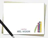 Stack of Books Note Cards...