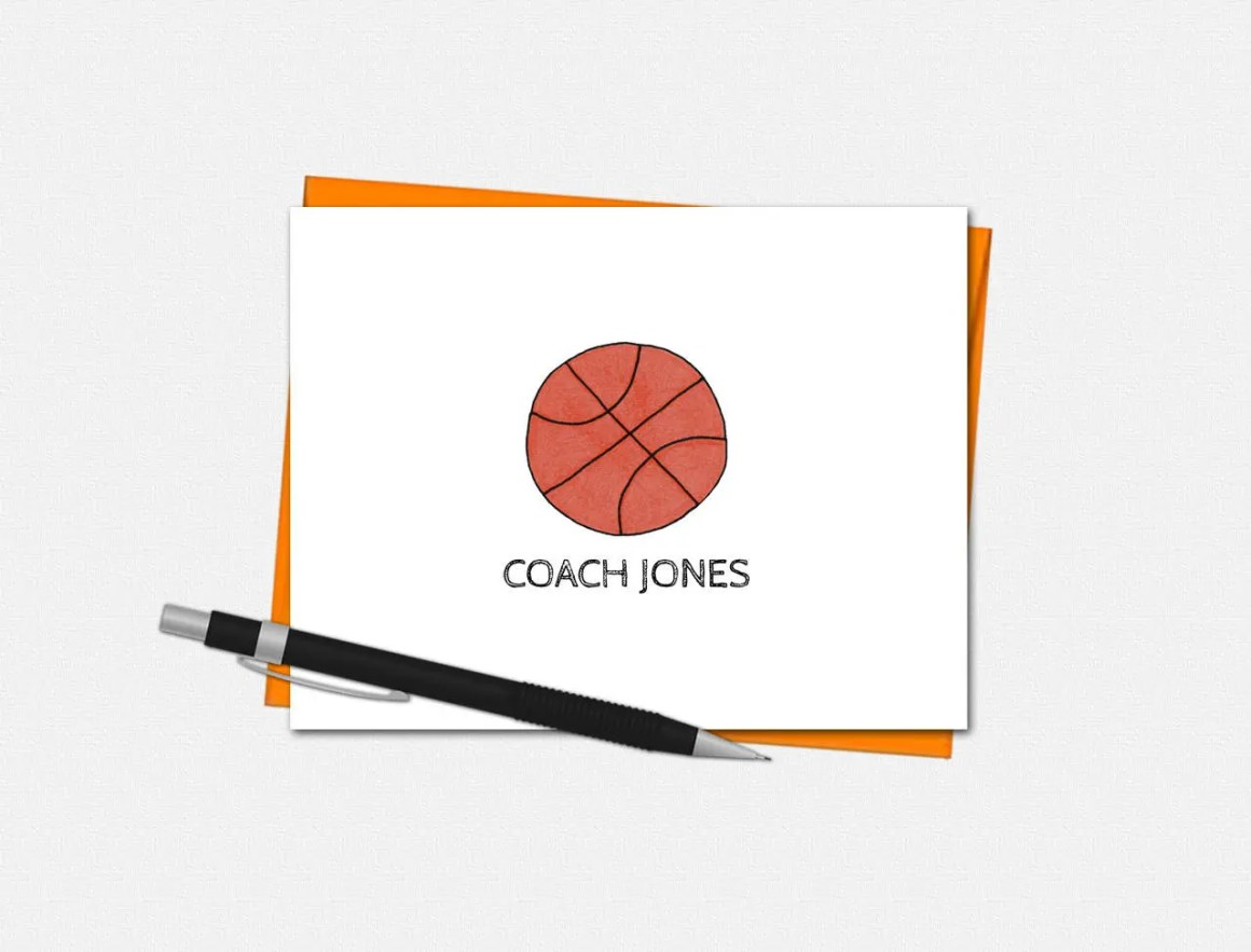 Basketball Note Cards - P...