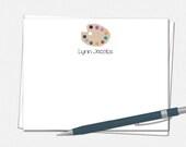 Paint Palette Note Cards ...