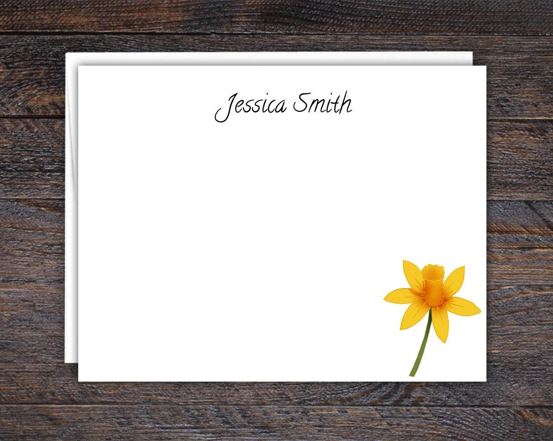 Daffodil Note Cards - Cus...