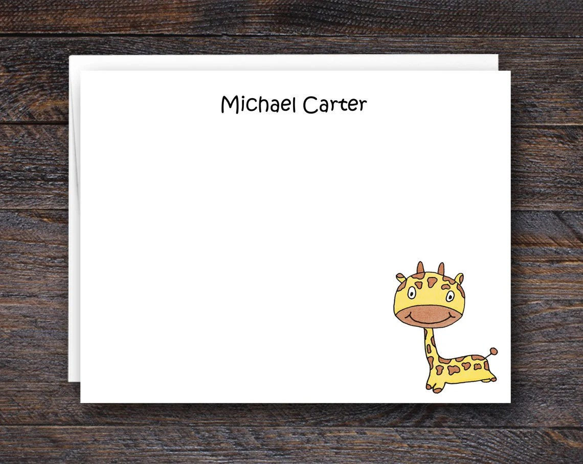 Custom Note Cards for Kid...