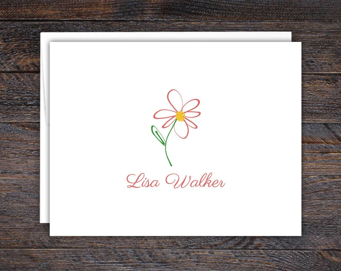 Pink Daisy Note Cards - F...