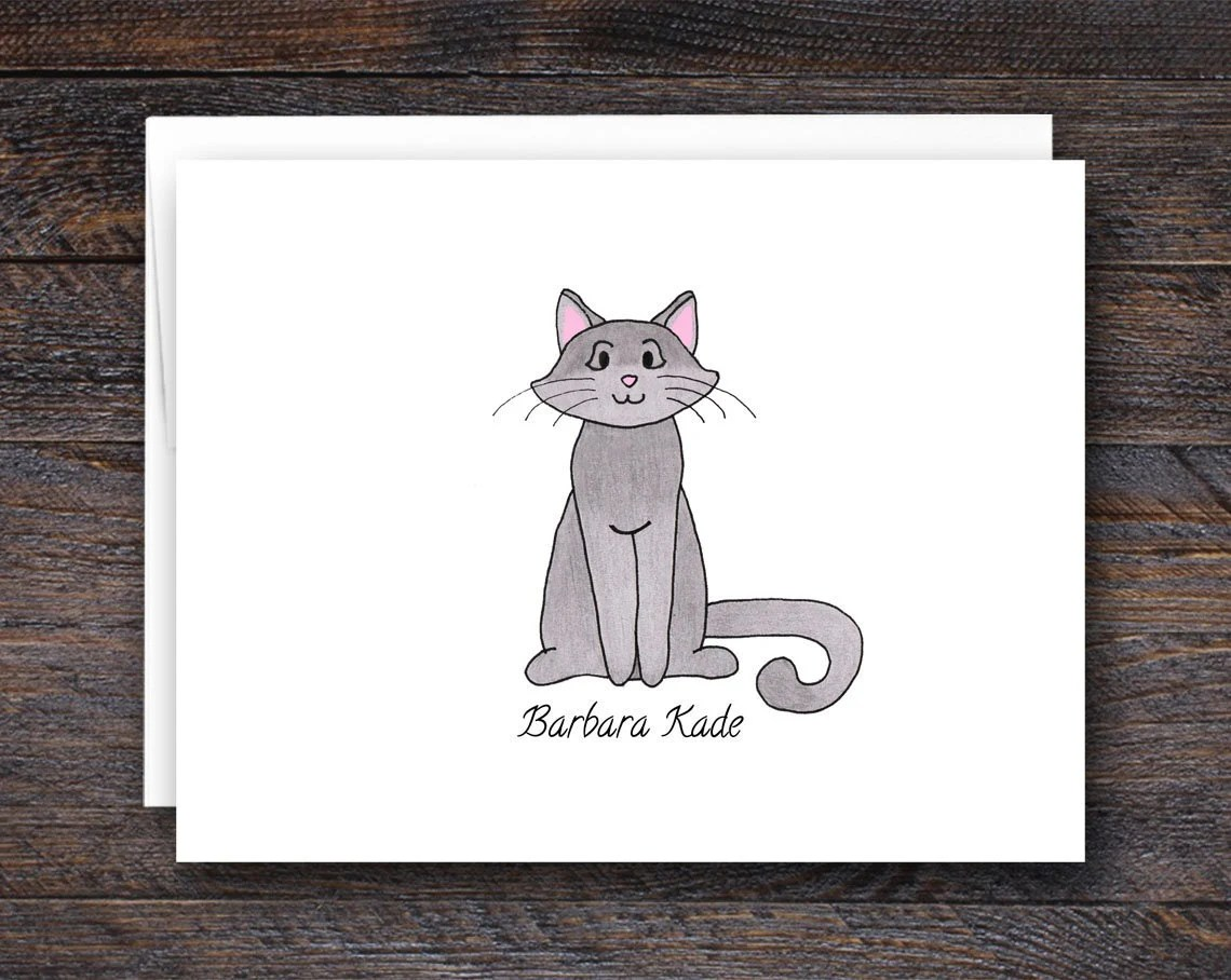 Cat Note Cards | Gifts fo...
