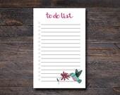 Hummingbird To Do List - ...