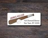Baseball Address Labels -...