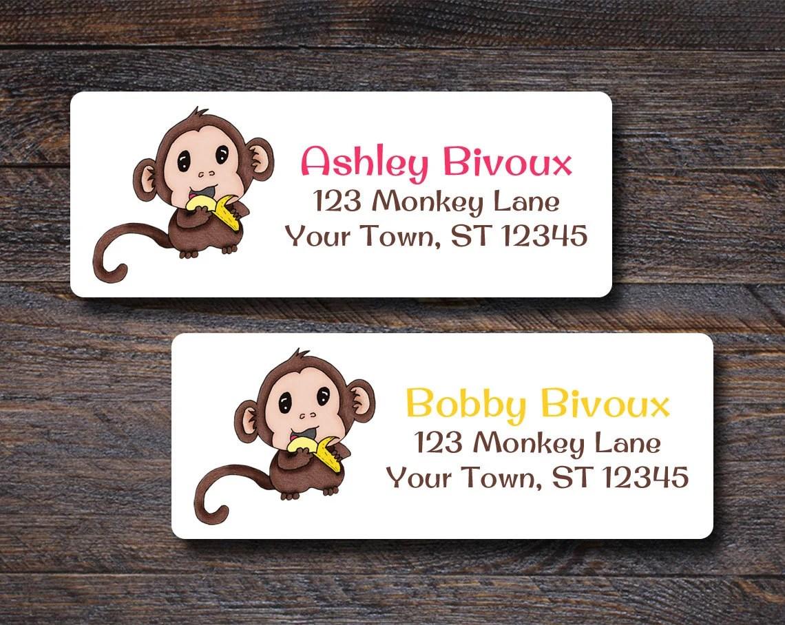 Baby Monkey Address Label...