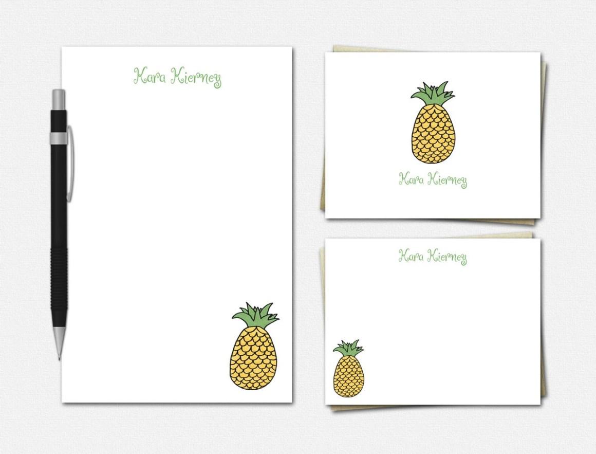 Pineapple Stationery Set ...