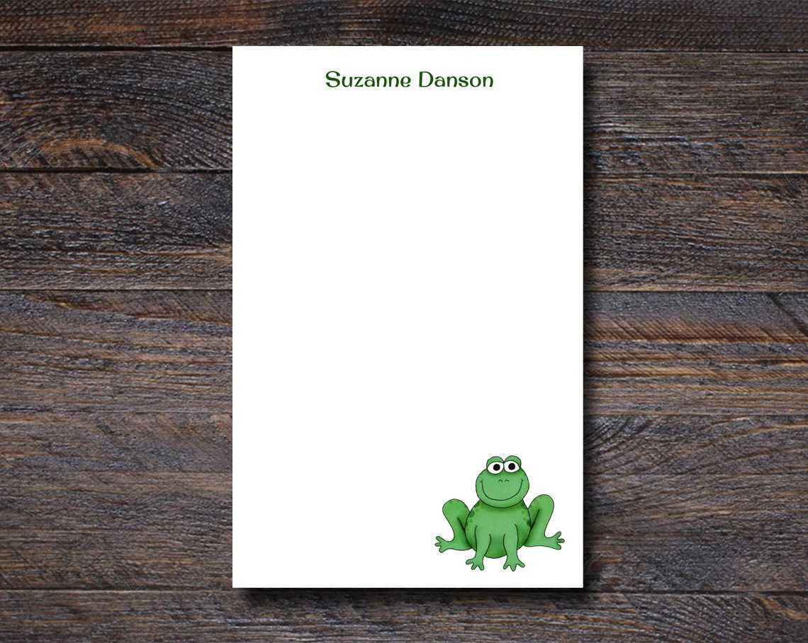 Personalized Frog Notepad...