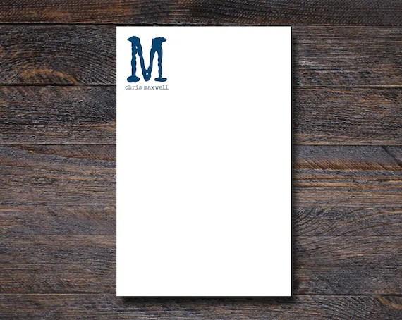 Custom Monogram Notepad for Men