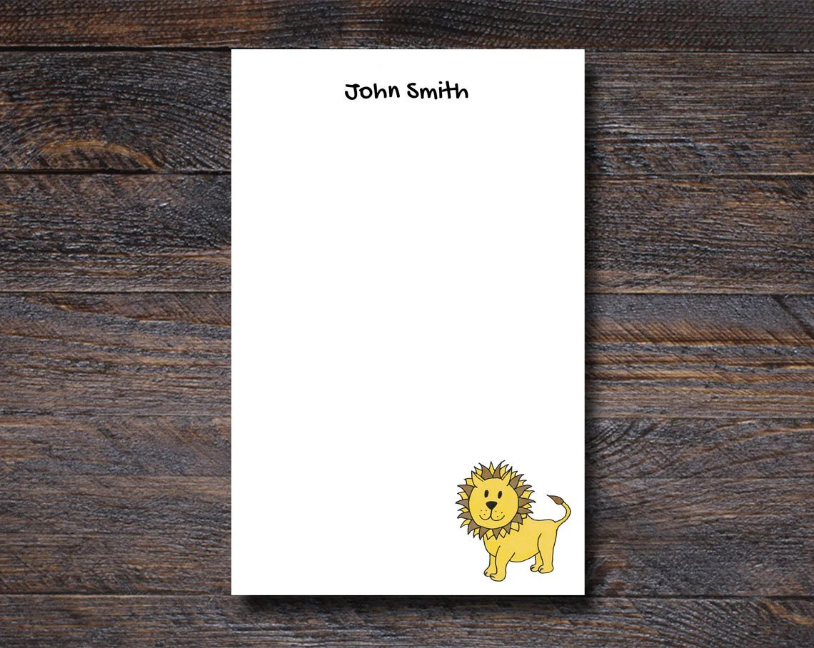 Personalized Lion Notepad...