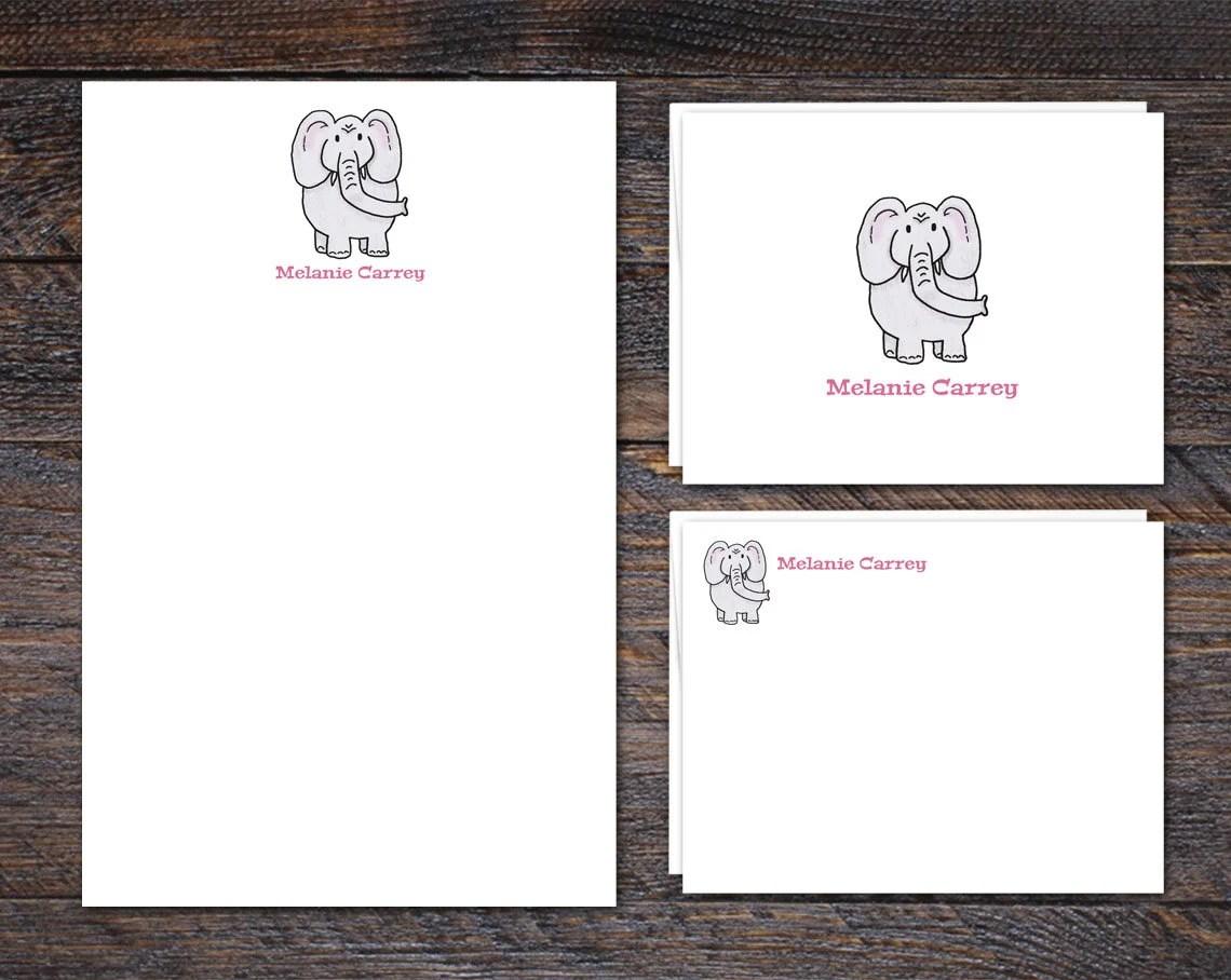 Elephant Stationery Set -...